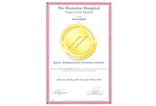 JCI 2017 Nemocnice na Homolce