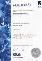 ISO 9001 Nemocnice na Homolce